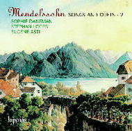 Mendelssohn - Songs and Duets - 2 | Hyperion CDA67137