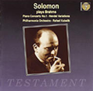 Solomon plays Brahms | Testament SBT1041