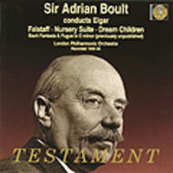 Sir Adrian Boult conducts Elgar | Testament SBT1106