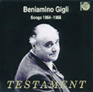Beniamino Gigli - Songs 1954-1955 | Testament SBT1165