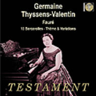 Faure - 13 Barcarolles, Theme and Variations op.73 | Testament SBT1215