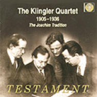The Klingler Quartet 1905-1935: The Joachim Tradition | Testament SBT2136